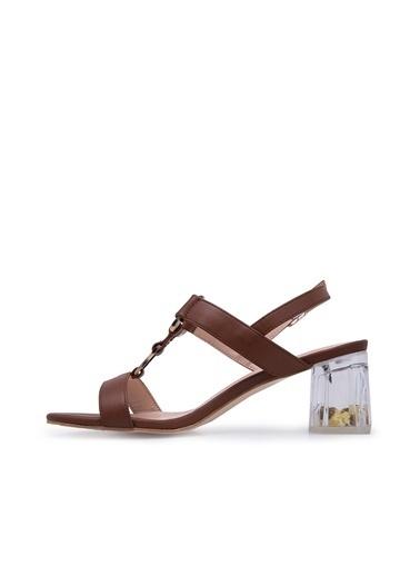 Via Dante Via Dante Kadın Topuklu Sandalet Camel
